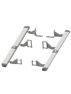 Toyota Hilux Side Protection & Steps | 4x4 | Silver