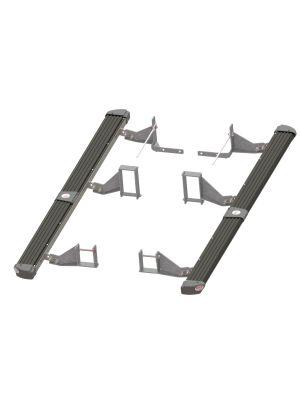 Toyota Hilux Side Protection & Steps | 4x4 | Black